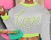 <P>G/Green LoVe Sweater