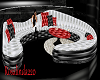 sofa rouge noir et blanc