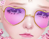 d. heart glasses purple