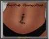 Love Belly Piercing Blk