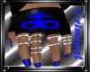 Satan Blue Gloves