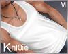 K white singlet top M