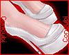 ♂ Latex Heels |White