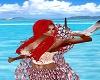Ariel Mermaid Top Lt Red