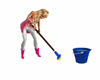 Animated Mop and Broom