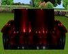 Red/Black PVC Zen couch