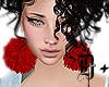 D+. Fluffy Earrings RED