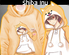 桜 . Shiba Inu Hoody