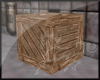 Plain wooden crate