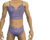 Purple all lace bra set