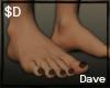 $D- BlackNails Feet 2