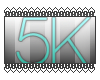 |5k support sticker|