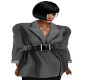 TEF BLACKISH BELTED TOP