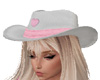 Cowgirl Hat White