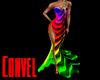Rainbow wave dress