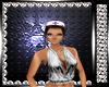 Purple White Nurse Hat