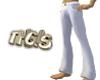 White Demin Pants