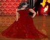 Dark Red Glitter Gown