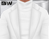 White Turtleneck Suit
