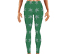 Green Snowflake Leggings