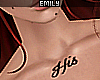 """His"" Neck Tattoo"
