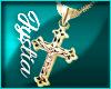 𝓙24K Gld Crucifix (M)