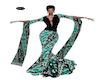 NM Gown Batik green cc