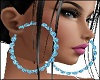 Blue Hoops Earrings