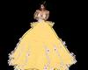 robe de bal jaune fleur