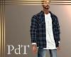 PdT Gray Plaid Shirt&T M