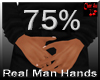 real man small hands 75%
