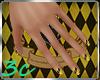 [3c] Hufflepuff Nails 2