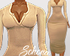 ṩNina Dress rll Beige