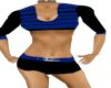 blk/blue hot pants set