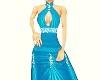 Blue.Glitter.Long Dress