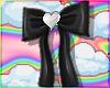 Black Hair Bows