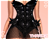 T | Black Spiked Corset