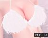 🅜 COW: fluffy bra wht