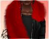Red Faux Fur Stole