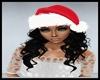 Santa Hat w/ Black Hair