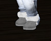 grey shearling boots