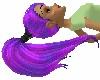 Sky PurplePony Updo Hair
