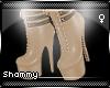 ☠ Militia Boots Beige