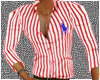 RED POLO STRIPES MUSCLE