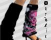 *D* Pink Skull Sock Left