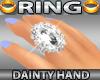 Dainty Hand Ring Diamond
