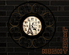 !N Gold Paris Wall Clock