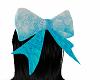sweet Teal blue hair bow