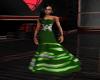 {B} Green N Silver Gown