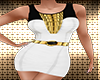 White/Gold Party Dress